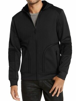 £5.79 • Buy INC Mens Jacket Black Size XL Overbound Faux-Fur Lined Hooded Zip $99 #277