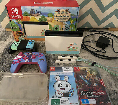 AU600 • Buy Nintendo Switch Animal Crossing Console + Accessories And Games (AU Stock)