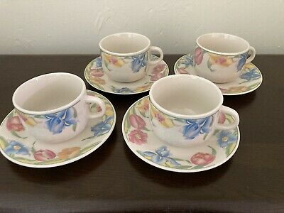 £5.50 • Buy Crown Dynasty. Various Flower Design 4cups And 4 Saucers. Pretty And Colourful