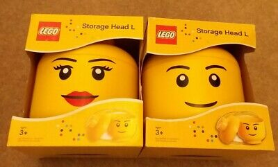 £39.99 • Buy LEGO Large Storage Container Heads, Male & Female