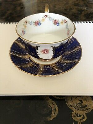 £49 • Buy Paragon Tea Cup & Saucer , Fine Bone China , Blue, Gold And Floral Design