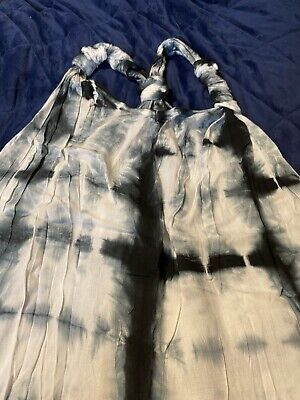 £7.99 • Buy XL Black & White Tie Dye Floor Length Summer Dress Beach Party Casual Holiday
