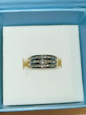 AU700 • Buy 0.50 Carat Baguette Diamond Ring In 9 Ct Yellow Gold Channel Setting- Size L 1/2