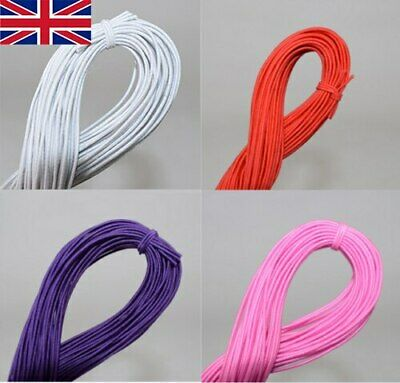 £2.99 • Buy 25M Strong Stretch Elastic Cord Wire Rope Bracelet Necklace String Bead White H
