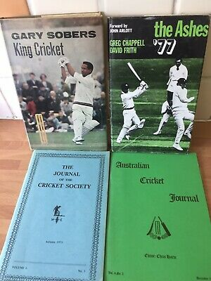 £5 • Buy 4 Cricket Books Gary Sobers-The Ashes 77 & 2 Journels