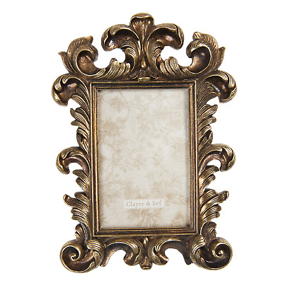 £16.39 • Buy Gold Distressed Aged Photo Frame - 6 X 4  Classic Rococo - Freestanding