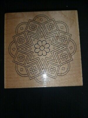 £1.50 • Buy Hobby Art Wooden Mounted Floral Jewel Stamp Jewel1392 G
