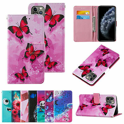 AU6.69 • Buy Case For IPhone 11 12 Pro 7 Plus Pattern PU Leather Flip Wallet Case Phone Cover