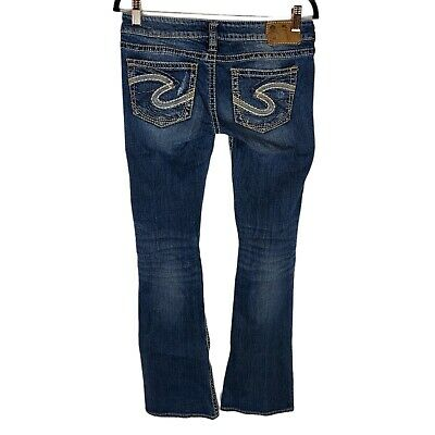 £21.72 • Buy Silver Jeans Tuesday Low Rise Boot Cut Distressed Jeans 27X35