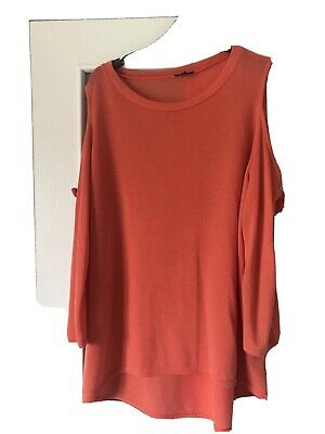 £2.20 • Buy River Island Long  Top With Cut Out Sleeves, Size 16