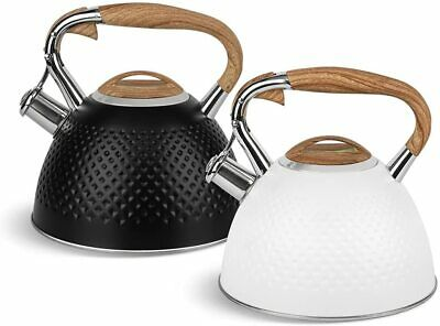 £27 • Buy Whistling Kettle Black Gas Induction 3 L Stainless Steel Camping Stove Top