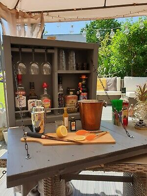 £100 • Buy Handmade Outdoor Garden Wall Mounted Drinks/Gin/Cocktail Bar With Bottle Opener.
