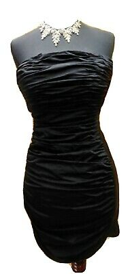£7.18 • Buy Black Micro-mini Ruched Cocktail Dress  Small