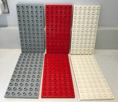£14.99 • Buy 6 LEGO DUPLO BASE BOARD/PLATE 6x12 STUDS Red/grey/white