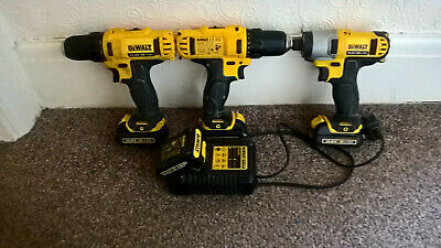 £69 • Buy Dewalt 10.8v Kit 1x Impact Driver And 2x Drills, 4x Batteries And Charger