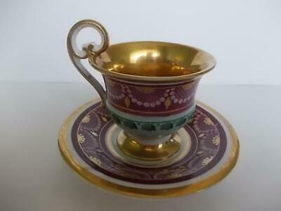 $27.82 • Buy M422 / A 19th Century Continental Porcelian Chocolate Cup And Saucer