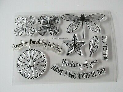 £1 • Buy Cards By Chloe Mixed Stamps Dragonfly And Floral