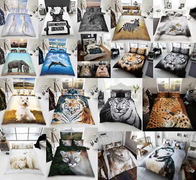 £15.99 • Buy 3D Duvet Cover Set Animal Bedding Quilt With Pillowcase Single Double King Sizes