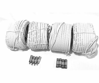 $ CDN55.72 • Buy BNC Video Cable, All In One Video Security Camera Cable 60ft 4 Pk W/8 Connectors
