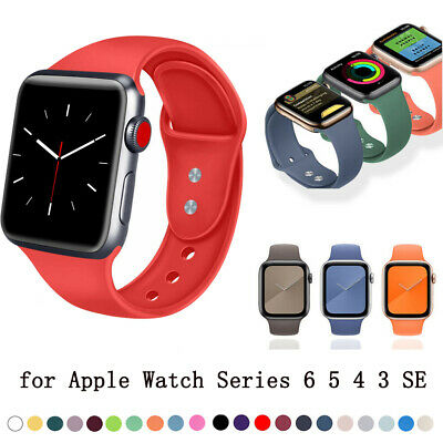 $ CDN4.71 • Buy Band Soft Sport Strap Silicone For Apple Watch Series 6/5/4/3/2/1/SE IWatch