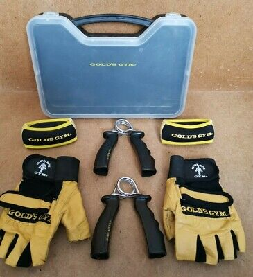£19.99 • Buy Bundle Set Of Golds Gym Weight Lifting Gloves, Wrist Weights, Hand Grips Squeeze