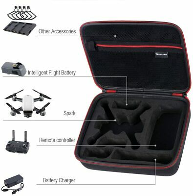 AU95.10 • Buy DJI Spark Fly More Combo Case Fit Batteries Controller Charging Hub & Propellers