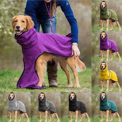 £11.39 • Buy Pet Clothes Dog Towelling Drying Robe Soft Coat Puppy Warm Apparel. Sleepwear