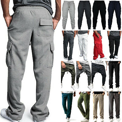 $22.22 • Buy Mens Joggers Trousers Jogging Loose Sweatpants Sports Bottoms Casual Cargo Pants