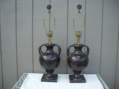 $1395 • Buy Pair- Rare Vintage Maitland Smith Inlayed Table Lamps W. Finials