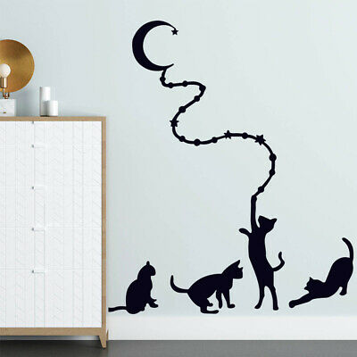 £0.99 • Buy Wall Art Stickers Lovely Cat Wall Sticker Vinyl DIY Mural Decal Quote Home Decor
