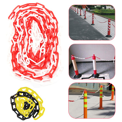 £14.99 • Buy 25 M Plastic Warning Chain Security Bollards Safety Barrier Road Fencing Garden