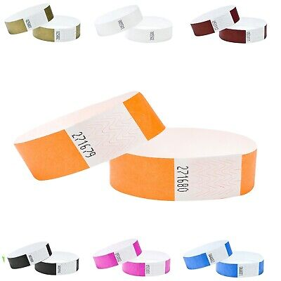£3.89 • Buy Wristbands 100 Security Party Event Festivals Clubs Plain 19mm Tyvek Numbered