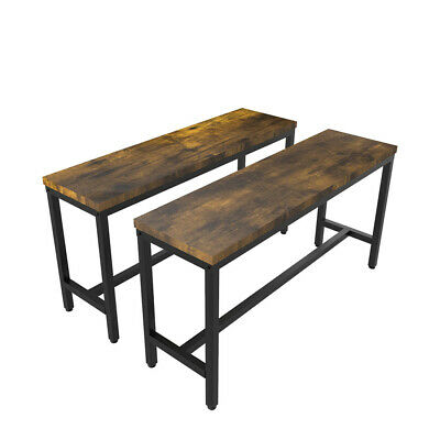 £59.95 • Buy 2 Wooden Bench 97CM Kitchen Dining Room Hallway Kitchen Long Seat Chair Backless