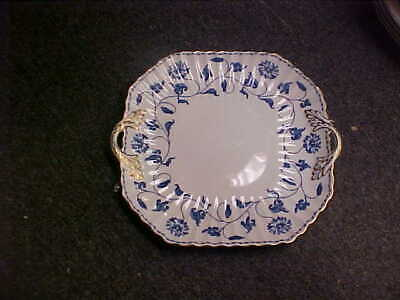 £90.89 • Buy Spode Colonel Blue Gold ENGLAND 10 1/2  Square Cake Plate