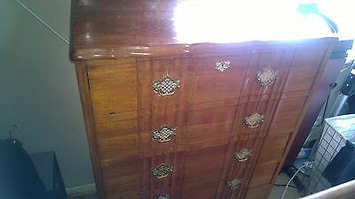£295 • Buy Tallboy Chest Of Drawers Antique South African Imbuia/brazilian Walnut