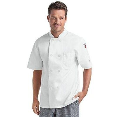 $14.99 • Buy CHEF UNIFORMS Mens SMALL White Short Sleeve Chef Coat 2-Button