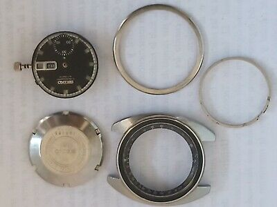 $ CDN214 • Buy Parts Watch Seiko Chronographs 6139 6012 Black Dial, Case, Cover B And Movement
