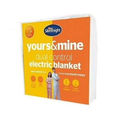 £20 • Buy Silentnight Yours And Mine Dual Control Electric Underblanket - Double