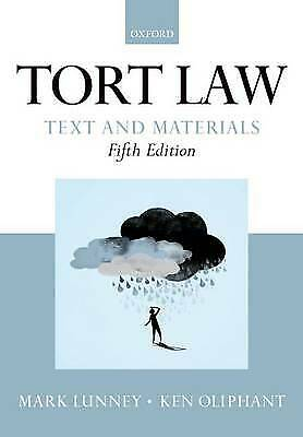 £4.99 • Buy Tort Law: Text And Materials By Ken Oliphant, Mark Lunney (Paperback, 2013)