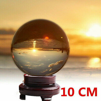 £8.79 • Buy 10CM Clear Crystal Ball Magic Healing Meditate Sphere Photography + Stand UK