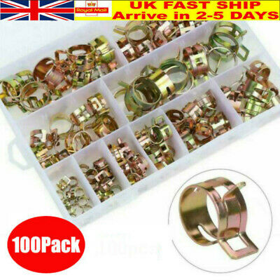 £10.28 • Buy 100Pcs Spring Hose Clips/Clamps Mikalor Fuel Air Gas Water Pipe Self Clamping UK
