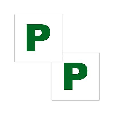 £2.99 • Buy Magnetic Car P-Plate Set Learner Drivers Provisional Driving Test - Twin Pack