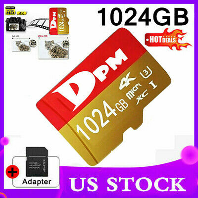 $12.63 • Buy DPM 512GB/1TB Micro Karte Fast Flash Memory Card With SD Adapter