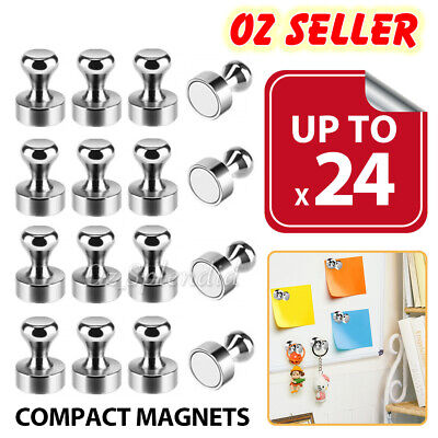 AU12.50 • Buy Up To 24x Strong Fridge Magnets Neodymium Magnetic Crafts Whiteboard Push Pins