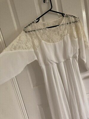 AU16 • Buy Asos Ladies Maternity White Sheer And Lace Lined Mother-to-be Dress Size 8