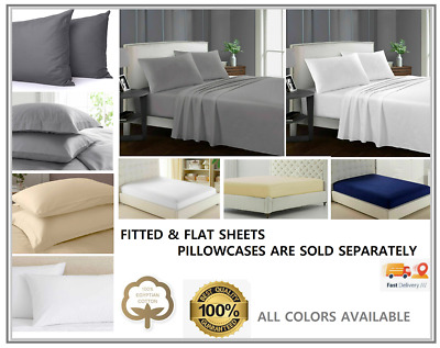 £10.90 • Buy   30cm Deep Flat Sheets Fitted Sheet Bed Covers 100% Cotton Super King Bedding