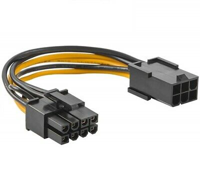 £2.45 • Buy 10cm PCI Express PCIe 6 Pin To 8 Pin Graphics Card Power Adapter Cable
