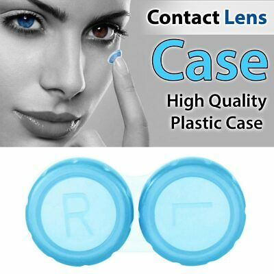 £2.05 • Buy Contact Lens Case Storage Soaking Mini Travel Eye Care L/R Marked Blue Color