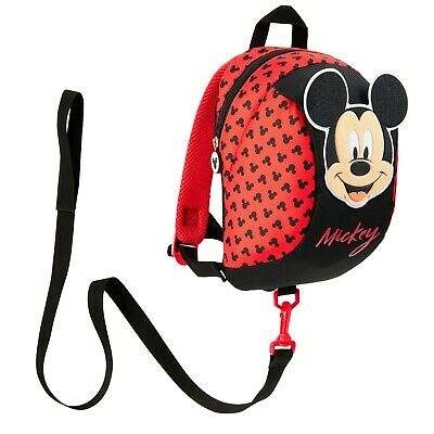 £12.49 • Buy Disney Mickey Mouse Backpack With Reins, Safety Reins For Toddlers Boys Girls