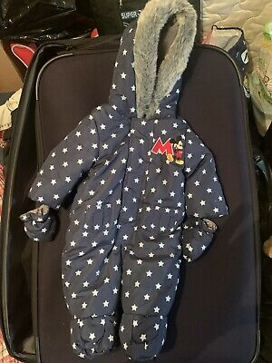 £7.50 • Buy Babies Disney Snowsuit Mickey Mouse Size 0-3months.. Only Worn Once.